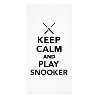 Keep calm and play snooker card