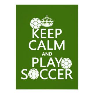 Keep Calm and Play Soccer (any color) Card