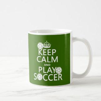 Keep Calm and Play Soccer (any color) Classic White Coffee Mug