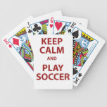 Keep Calm and Play Soccer Bicycle Card Deck