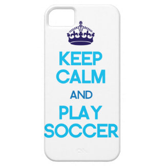 Keep Calm And Play Soccer (Blue) iPhone SE/5/5s Case