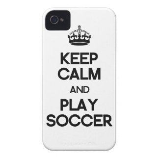Keep Calm And Play Soccer iPhone 4 Case-Mate Cases