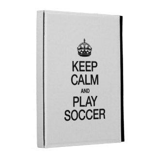 KEEP CALM AND PLAY SOCCER iPad FOLIO COVERS