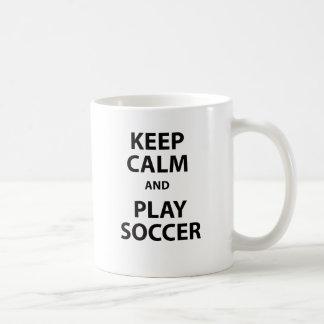 Keep Calm and Play Soccer Coffee Mug