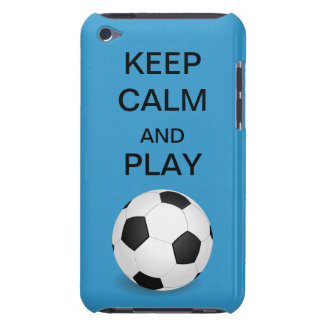Keep Calm and Play Soccer Form Factor iPod Case