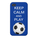 Keep Calm and Play Soccer iPhone 4 iPhone 4/4S Covers