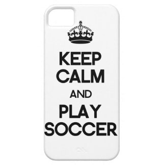 Keep Calm And Play Soccer iPhone SE/5/5s Case