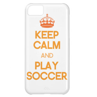 Keep Calm And Play Soccer (Orange) Cover For iPhone 5C