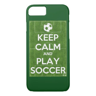 Keep calm and play soccer phone case