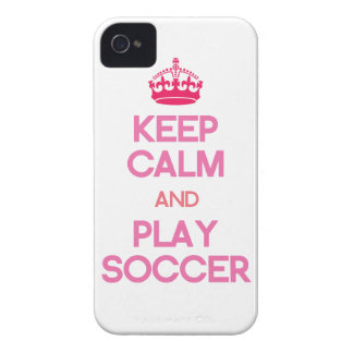 Keep Calm And Play Soccer (Pink) iPhone 4 Case-Mate Case
