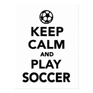 Keep calm and play Soccer Postcard