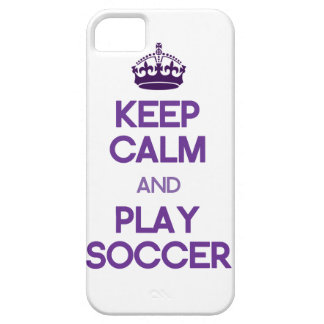 Keep Calm And Play Soccer (Purple) iPhone SE/5/5s Case