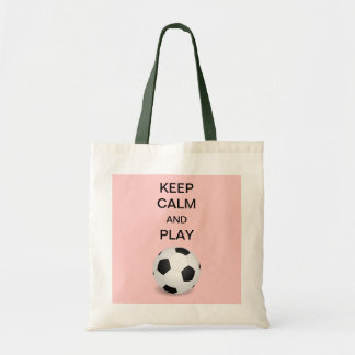 Keep Calm and Play Soccer Tote Bag