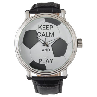 KEEP CALM AND PLAY SOCCER WATCH
