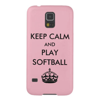 Keep Calm and Play Softball Case For Galaxy S5
