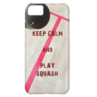 Keep Calm and Play Squash iPhone 5C Cases