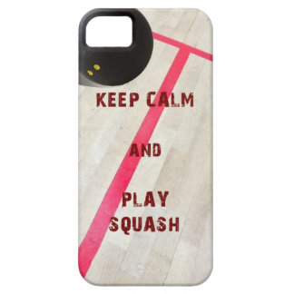 Keep Calm and Play Squash iPhone 5 Case