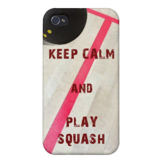 Keep Calm and Play Squash iPhone 4 Case