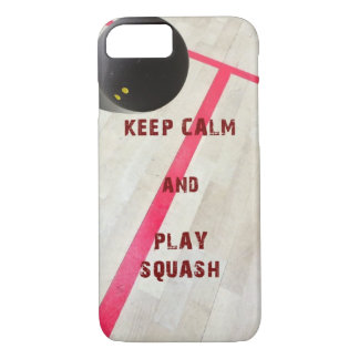 Keep Calm and Play Squash iPhone 7 Case