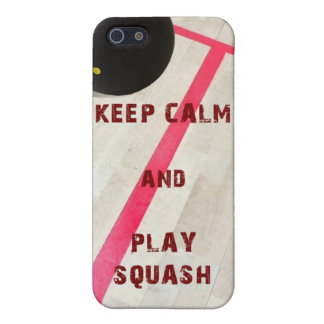 Keep calm and Play Squash iPhone 5/5S Cover