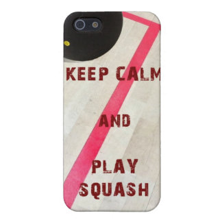 Keep Calm and Play Squash Covers For iPhone 5
