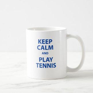 Keep Calm and Play Tennis Coffee Mug