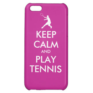 Keep Calm And Play Tennis Iphone Case