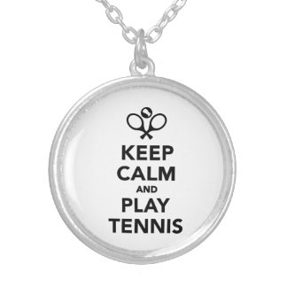 Keep calm and play Tennis Round Pendant Necklace