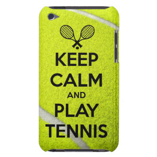 Keep calm and play tennis sport ball racket sports iPod Case-Mate cases