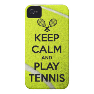 Keep calm and play tennis sport ball racket sports iPhone 4 cover
