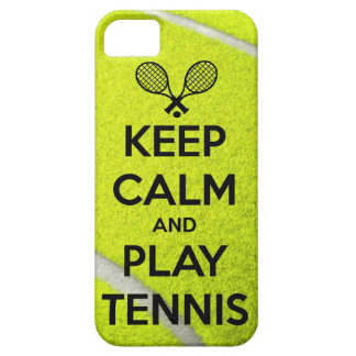 Keep calm and play tennis sport ball racket sports iPhone SE/5/5s case