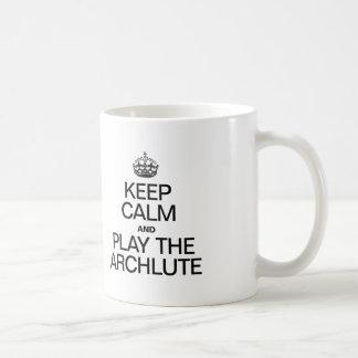 KEEP CALM AND PLAY THE ARCHLUTE CLASSIC WHITE COFFEE MUG