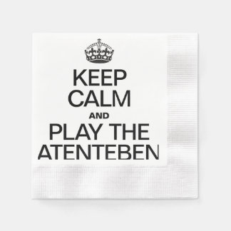 KEEP CALM AND PLAY THE ATENTEBEN COINED COCKTAIL NAPKIN