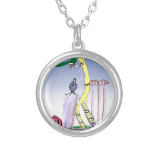 keep calm and play the ball, tony fernandes silver plated necklace