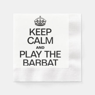 KEEP CALM AND PLAY THE BARBAT COINED COCKTAIL NAPKIN