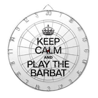 KEEP CALM AND PLAY THE BARBAT DARTBOARD WITH DARTS