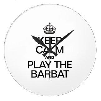 KEEP CALM AND PLAY THE BARBAT WALL CLOCKS