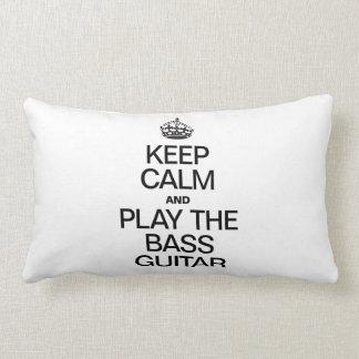 KEEP CALM AND PLAY THE BASS GUITAR THROW PILLOW
