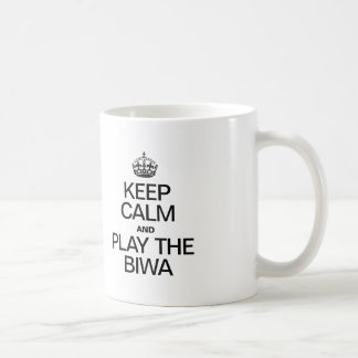 KEEP CALM AND PLAY THE BIWA CLASSIC WHITE COFFEE MUG