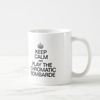 KEEP CALM AND PLAY THE CHROMATIC BOMBARDE COFFEE MUG