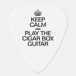 KEEP CALM AND PLAY THE CIGAR BOX GUITAR PICK