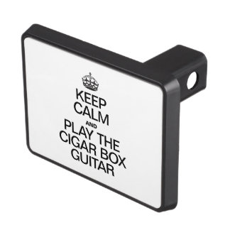KEEP CALM AND PLAY THE CIGAR BOX GUITAR TOW HITCH COVERS