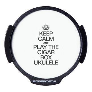 KEEP CALM AND PLAY THE CIGAR BOX UKULELE LED CAR DECAL