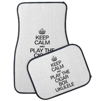 KEEP CALM AND PLAY THE CIGAR BOX UKULELE FLOOR MAT