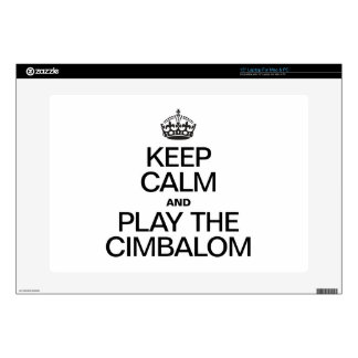 KEEP CALM AND PLAY THE CIMBALOM DECALS FOR LAPTOPS