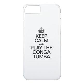 KEEP CALM AND PLAY THE CONGA TUMBA iPhone 8/7 CASE