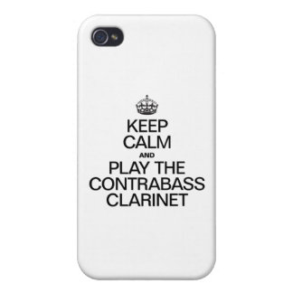 KEEP CALM AND PLAY THE CONTRABASS CLARINET COVER FOR iPhone 4