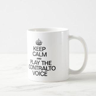 KEEP CALM AND PLAY THE CONTRALTO VOICE COFFEE MUG