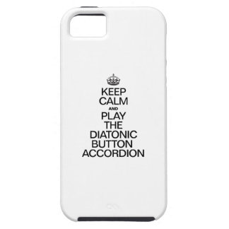 KEEP CALM AND PLAY THE DIATONIC BUTTON ACCORDION iPhone SE/5/5s CASE