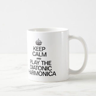 KEEP CALM AND PLAY THE DIATONIC HARMONICA COFFEE MUG